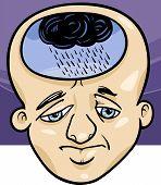 Homem triste conceito Cartoon ilustração