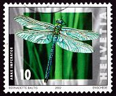 Postage Stamp Switzerland 2002 Emperor Dragonfly, Insect