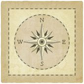 picture of wind-rose  - Wind rose on old background  - JPG