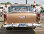 1955 Chevy Bel Air Copper Color Rear View
