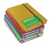 colored notebooks mock-up. vector illustration