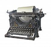 A máquina de escrever do início do século 20