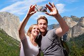 Happy Couple Selfie In Yosemite