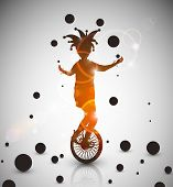 pic of juggler  - Background with jester juggler - JPG