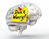 No Worry Note Paper On Brain