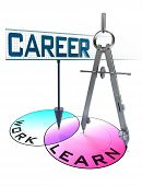 Career Conceptual Diagram With Words Learn And Work