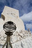 LISBON, PORTUGAL - MAY 28, 2014: The Monument to the Discoveries in Lisbon. The monument celebrates