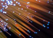 Abstract Internet technology fiber optic background