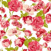 picture of rose flower  - Vintage Seamless Roses Background - JPG