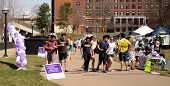 Walkers At University Of Michigan Relay For Life Event 2014