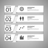 White Paper Infographic Option Background
