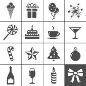 Holidays and event icons. Simplus series. Vector illustration