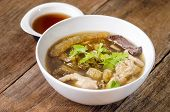 Fish Maw Soup with crab serve with sauce in restaurant