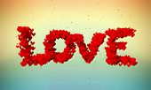 Love Particles 3D butterfly color background