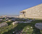 proylaea, (entrance) of Athens acropolis and erechtheion temple, Greece