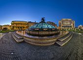 Panorama Of Manege Square In The Evening, Moscow, Russia