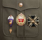 Samara, Russia - May 28, 2014: Different Awards And Medals On The Russian Military Uniform