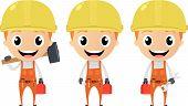 construction worker cartoon character