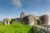 English castle Corfe Dorset England ruins of English fortification