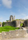 Corfe Castle Dorset England ruins of English fortification