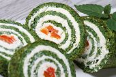 Chopped Spinach Roulade With Cream Cheese Macro