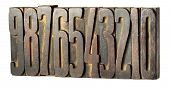 Set Of Old Printers Blocks With Numbers