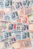 Closeup Of Indian Currency Notes