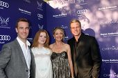 LOS ANGELES - JUN 7:  James VanDerBeek, Kimberly Brook, Rebecca Gayheart, Eric Dane at the 13th Annu