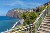 picture of bannister  - Beautiful coast of Madeira Island with hiking trail Portugal  - JPG