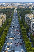 Champs-elysees And Concorde Place