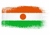 Brushstroke Flag Niger