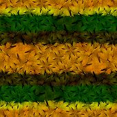 pic of reggae  - Floral motif pattern with the colors of jamaica and reggae music style - JPG