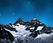 Ober Gabelhorn in night - Swiss Alps