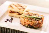 stock photo of tartar  - salmon tartare  - JPG