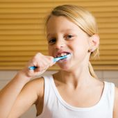 Evening routine - brushing teeth