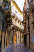 Valencia Carrer del Tossalet traditional street in Spain