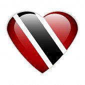 Trinidad And Tobago Flag Button.
