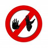 Interdiction Paw  Symbol Sign . Gorilla Pawprint