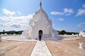 Mandalay, Myanmar - October 9, 2013: White Pagoda Of Hsinbyume Temple, Mingun, Mandalay - Myanmar