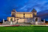 Monument of Victor Emmanuel in Rome Italy