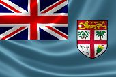 Close Up Of Fiji's Flag