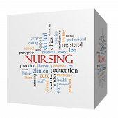 Nursing 3D Cube Word Cloud Concept