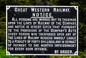 Great Western Railways warning notice.