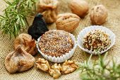 Some traditional christmas portuguese cakes with figs and nuts