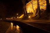 Castle Of Cesky Krumlov At Night, Czech Republic