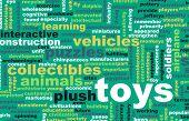 Toys Collection as a Concept Abstract Art