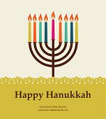 stock photo of religious  - happy hanukkah - JPG