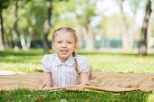Girl in summer park