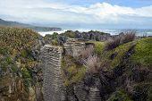 Looking South From Punakaiki Rocks Towards Greymouth, New Zealand.