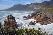 Looking North From Punakaiki Rocks Towards Karamea, New Zealand